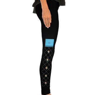 Personalized name doctor black criss cross leggings