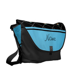 Personalized name doctor black criss cross messenger bags