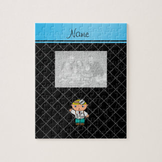 Personalized name doctor black criss cross puzzle