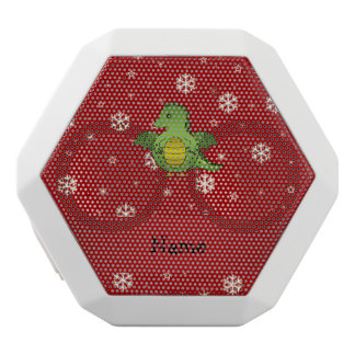 Personalized name dragon red snowflakes white boombot rex bluetooth speaker
