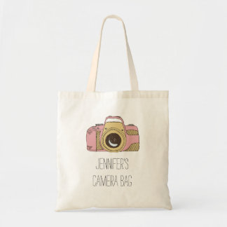 Personalized Name DSLR Camera Tote Bag