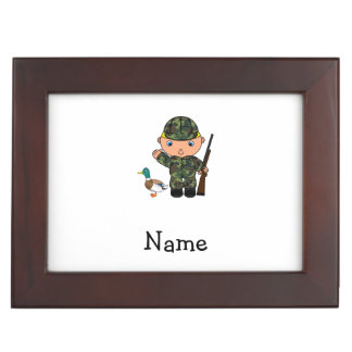 Personalized name duck hunter memory box