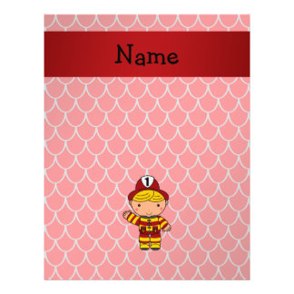 Personalized name fireman red dragon scales 21.5 cm x 28 cm flyer