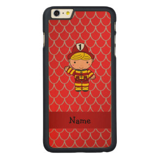 Personalized name fireman red dragon scales iPhone 6 plus case