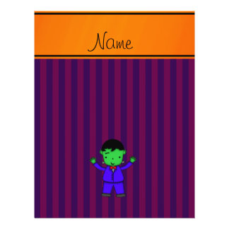 Personalized name frankenstein purple stripes personalized flyer