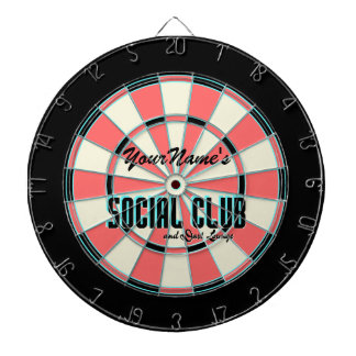 Personalized Name Gameroom Dartboard