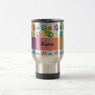 Personalized name giraffe rainbow paws mug