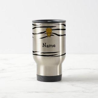 Personalized name giraffe zebra stripes coffee mugs