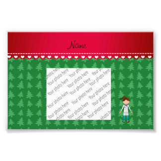 Personalized name girl doctor green trees art photo