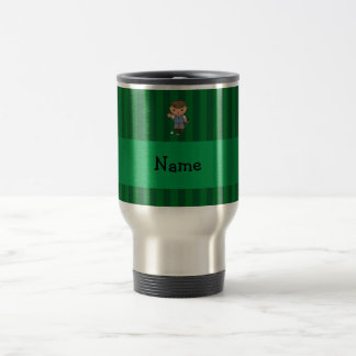 Personalized name golf player green stripes coffee mugs