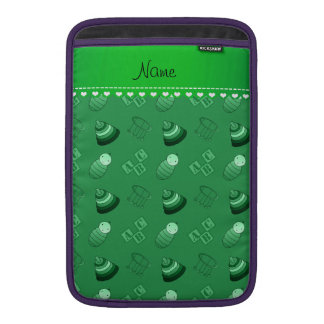 Personalized name green baby blocks mobile toys MacBook air sleeves