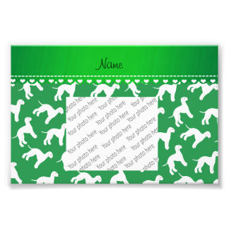 Personalized name green bedlington terrier dogs photo