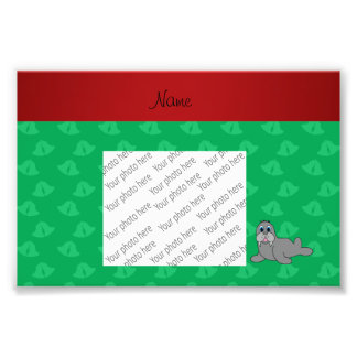 Personalized name green bells walrus photo