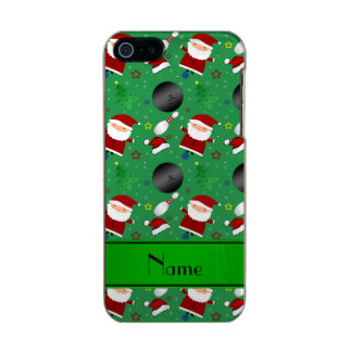 Personalized name green bowling christmas pattern incipio feather® shine iPhone 5 case