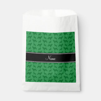 Personalized name green cocker spaniel favour bags