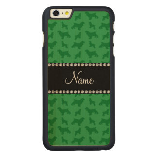 Personalized name green cocker spaniel carved® maple iPhone 6 plus case