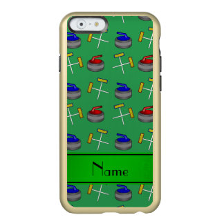 Personalized name green curling pattern incipio feather® shine iPhone 6 case