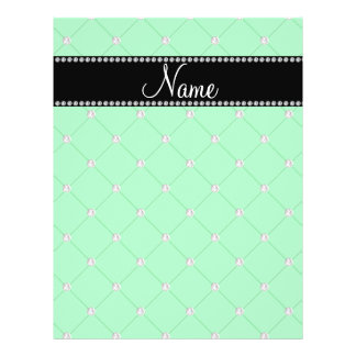 Personalized name Green diamonds Flyer