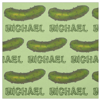 Personalized Name Green Dill Pickle Pickles Fabric