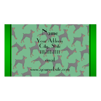 Personalized name green doberman pinschers pack of standard business cards
