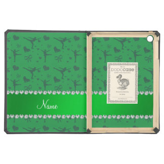Personalized name green figure skating iPad air case
