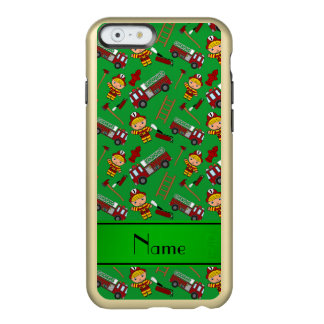 Personalized name green firemen trucks ladders incipio feather® shine iPhone 6 case