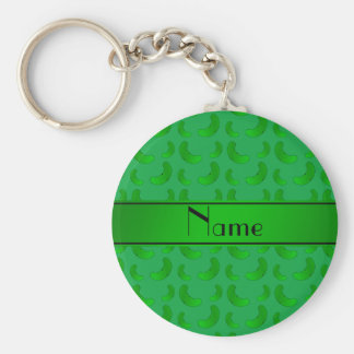 Personalized name green green pickles key ring