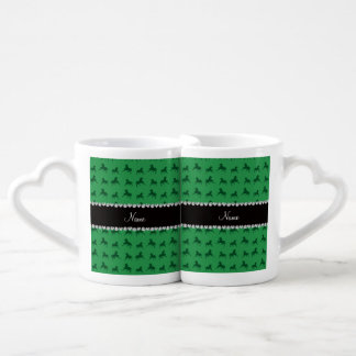 Personalized name green horse pattern lovers mug