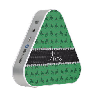 Personalized name green horse pattern