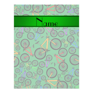Personalized name green mountain bikes personalized flyer