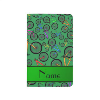 Personalized name green mountain bikes journal