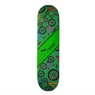 Personalized name green mountain bikes skateboard decks