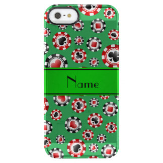 Personalized name green poker chips iPhone 6 plus case