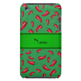 Personalized name green red chili pepper iPod touch covers