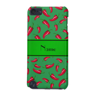 Personalized name green red chili pepper iPod touch (5th generation) covers