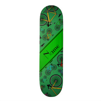 Personalized name green road bikes 19.7 cm skateboard deck