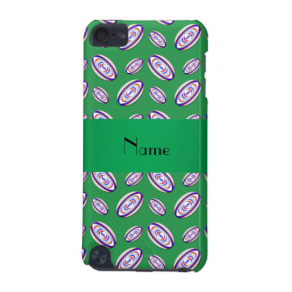 Personalized name green rugby balls iPod touch (5th generation) cover