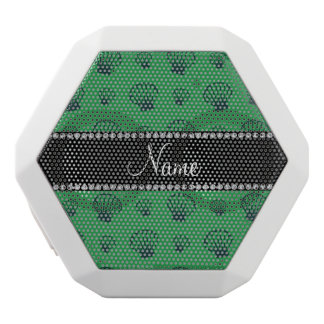 Personalized name green shells white boombot rex bluetooth speaker