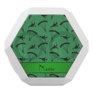 Personalized name green skydiving pattern white boombot rex bluetooth speaker