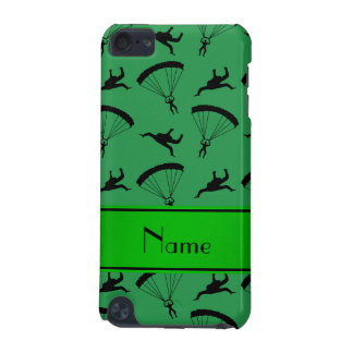 Personalized name green skydiving pattern iPod touch (5th generation) covers