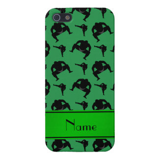 Personalized name green sumo wrestling iPhone 5/5S cover