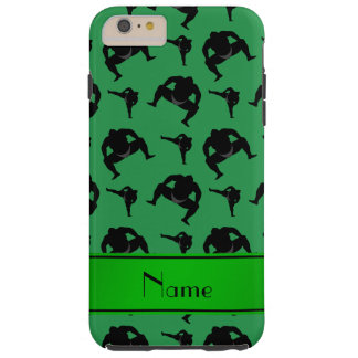 Personalized name green sumo wrestling tough iPhone 6 plus case