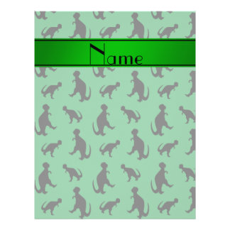 Personalized name green trex dinosaurs 21.5 cm x 28 cm flyer