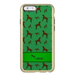 Personalized name green Vizsla dogs Incipio Feather® Shine iPhone 6 Case