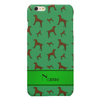 Personalized name green Vizsla dogs iPhone 6 Plus Case