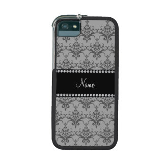 Personalized name Grey damask Cover For iPhone 5/5S