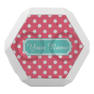 Personalized Name Indian Red Polka Dots White Boombot Rex Bluetooth Speaker