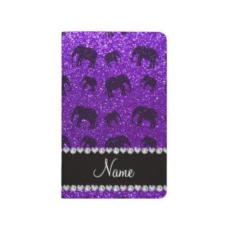 Personalized name indigo purple glitter elephants journal