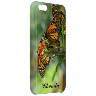 Personalized Name iPhone 5 cases Monarch Butterfly