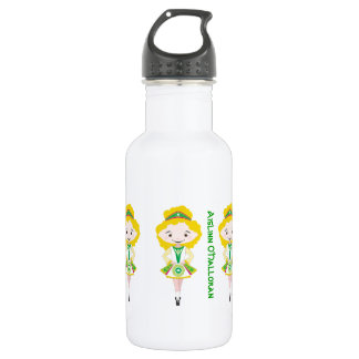 Personalized name irish dancing troupe blonde hair 532 ml water bottle